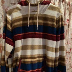 Men's Hollister Striped Fleece Hoodie..Size XL